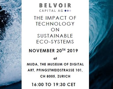 "Belvoir Invest launch event ""The Impact of Technology on Sustainable Eco-Systems"""